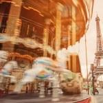 Retro carousel in Paris — Stock Photo #24748941