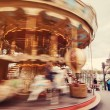 Retro carousel in Paris — Stock Photo