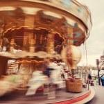 Retro carousel in Paris — Stock Photo