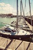 Yacht marina in the sunlight — Stock Photo