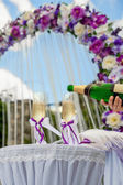 Glasses and wedding — Stock Photo