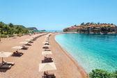 Luxury beach in Montenegro — Stock Photo