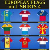 футбол трикотажные изделия с флагами — Cтоковый вектор