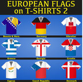 Soccer Jerseys with flags — Vetor de Stock