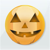 Icon Halloween pumpkin holiday — Stock Vector