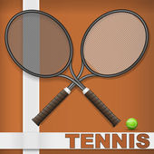 Clay court and rackets — Stock Vector