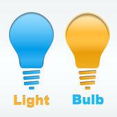 Creative light bulb label vector design — Stock Vector