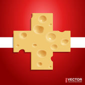 Swiss Cheese — Stock Vector