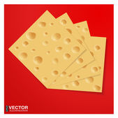 Slices of cheese — Stock Vector