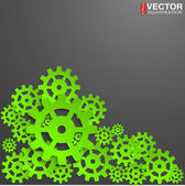 Abstract design with cog wheel — Stock Vector