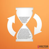 Hourglass with a field for the text — Stock Vector