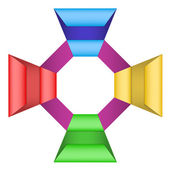 Modern business circle origami style — Stock Photo