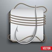 Realistic fishing hook vector — Stock Vector