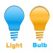 Stock Photo: Light bulb button