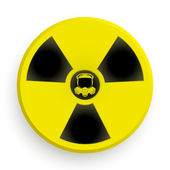 Icon radiation symbol with gas mask — Stock Photo