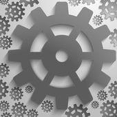 Абстрактный дизайн с зубчатое колесо — Стоковое фото