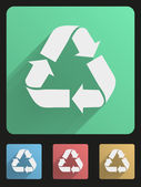 Flat icon set eco recycled — Stock Vector