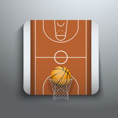 Vector Illustration Basketball icons — Stock Vector