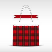 Sztuka torba na zakupy w wyboru tekstura — Wektor stockowy