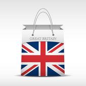 Shopping bag with British flag — Wektor stockowy