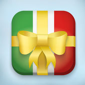 Vector Design Italy Gift Icon for Web and Mobile — Stock Vector