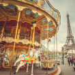 Vintage carousel in Paris — Stock Photo #35986487