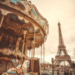 Vintage carousel in Paris — Stock Photo #35986623