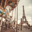 Vintage carousel in Paris — Stock Photo #35986747