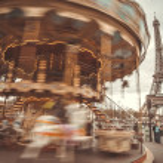 Vintage carousel in Paris — Stock Photo