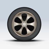 Wheel of car. Vector Illustration — Stock Vector