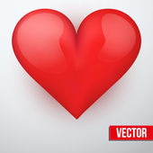 Background with beautiful realistic heart. Vector. — Stock Vector