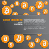 Background of financial currency Bitcoin — Stock Vector