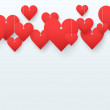 Stock Photo: Background beautiful red heart. Vector.