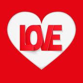 фон красный письмо любви — Стоковое фото