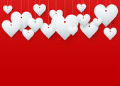 Background beautiful red heart. — Stockfoto