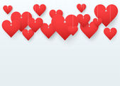 Background beautiful red heart. Vector. — Foto Stock