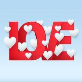 φόντο κόκκινο γράμμα αγάπης — Φωτογραφία Αρχείου