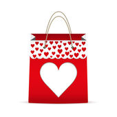 Shopping bag for Valentine's day — Foto Stock