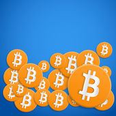 Background of financial currency Bitcoin — Stock Photo