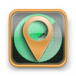 Flat icon pointer map marker — Stock Photo