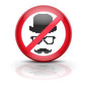 Anti spyware icon symbol illustration — Stock Photo