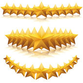 Gold five-pointed premium stars. vector — Stock Vector