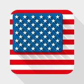 Vektor enkel platta ikon med usa flagga. — Stockvektor