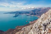 Seascape Montenegro. Mountains and islands. — Stock Photo