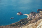 Seascape Montenegro. Budva and Sveti Stefan. — Stock Photo