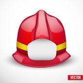 Kırmızı itfaiyeci kask vektör çizim — Stok Vektör