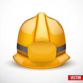 Gold fireman helmet vector illustration — Stock Vector