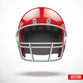 Realistic American football helmet vector — Stock Vector