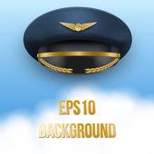 Aviator Peaked cap of the pilot. Vector. — Stock Vector