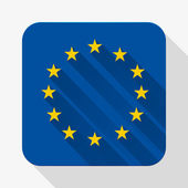 Simple flat icon Europe Union flag. Vector. — Vettoriale Stock
